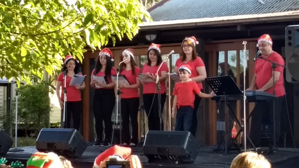 The Choir of Love - Chaldean, Assyrian, Syriac singers. They finished with the Arabic version of Jingle Bells, in D, Lailet Eid (happy festival).