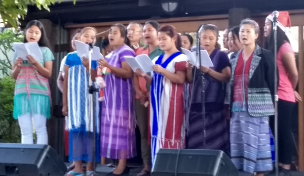 Newcomers to Christmas at Fairfield, The Karen Community Choir performed two sets. The adult choir perform a variety of traditional and contemporary songs.