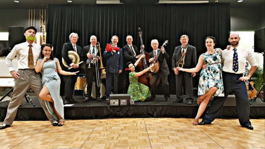 Greg Poppleton band and SwingKatz swing dancers