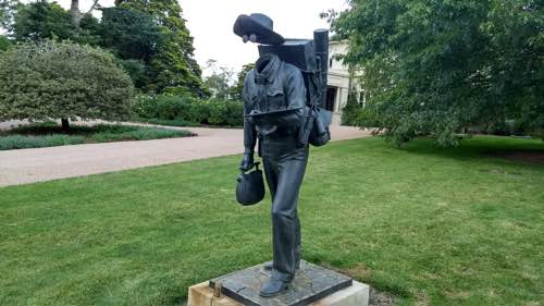 A Tim Storrier sculpture in the gardens