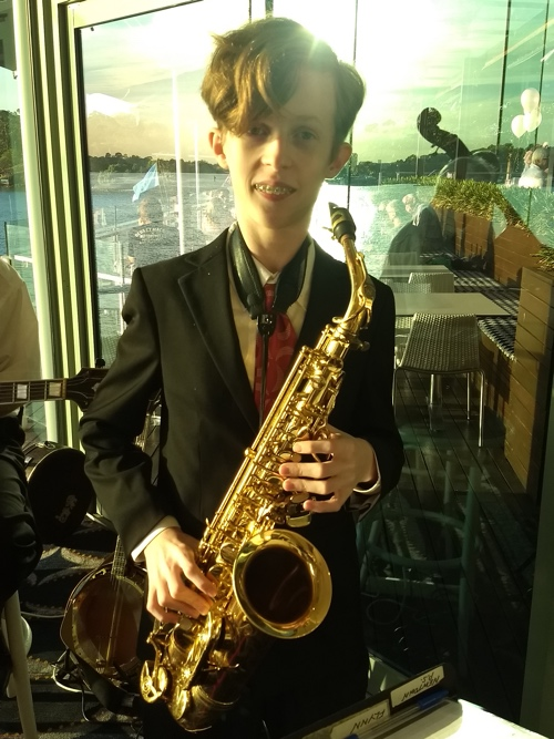 Damon Poppleton alto sax