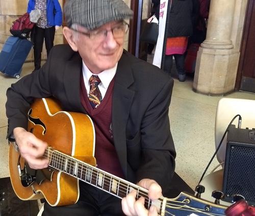 Grahame Conlon guitar in the Greg Poppleton Jazz Deco band