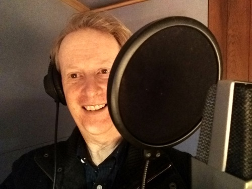 Greg Poppleton is the recoding studio for his latest 1920s - 30s album