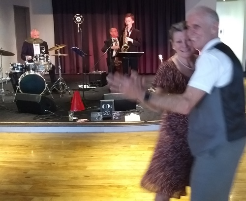 Gary and Deborah dancing to Greg Poppleton