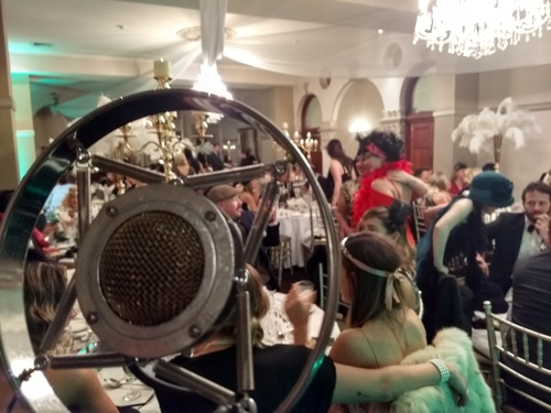 Greg Poppleton singers view of Great Gatsby party