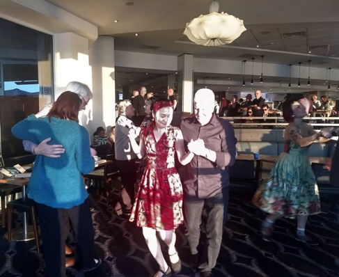 Dancing to the Greg Poppleton 1920s - 30s band at Sydney Rowers - a photo I took from behind the microphone