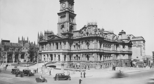 Sydney Town Hall early 1930s