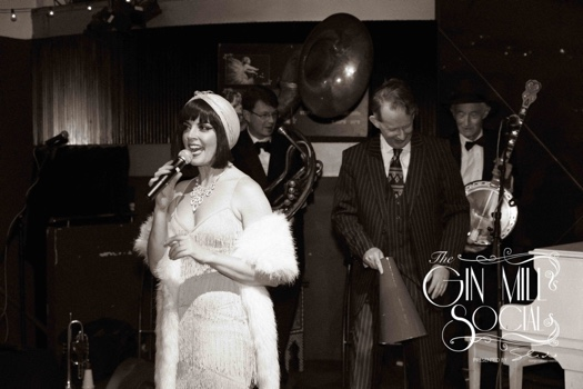 The Greg Poppleton 1920s Trio joins in the fun with Gin Mill Social MC Lou P. Lou