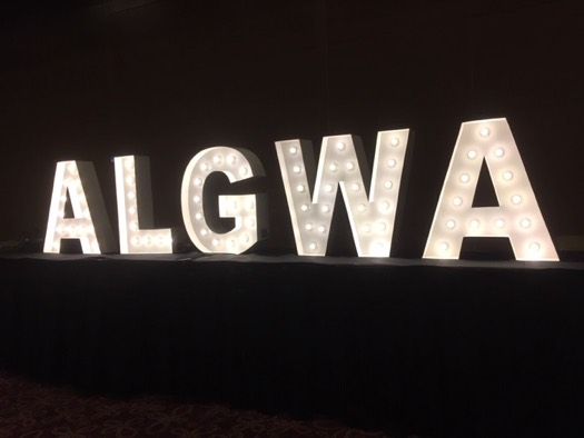 algwa sign at conference dinner
