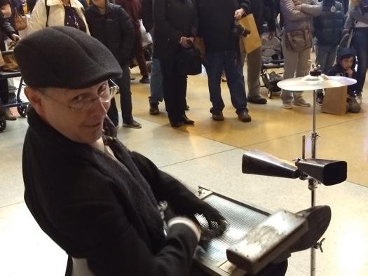 Adam Barnard on keyboard during that same instrumental.