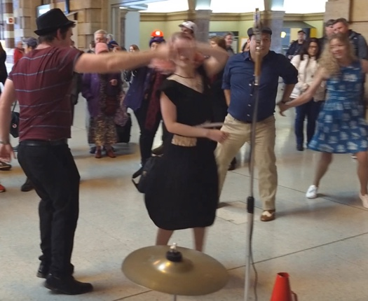 Swing dancing to the Greg Poppleton band at Central Station.