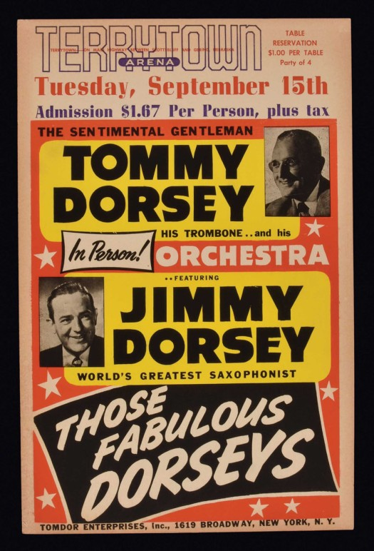 Dorsey Brothers band poster