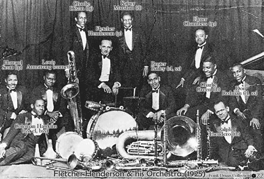 Fletcher Henderson Orch. in 1925 with Louis Armstrong