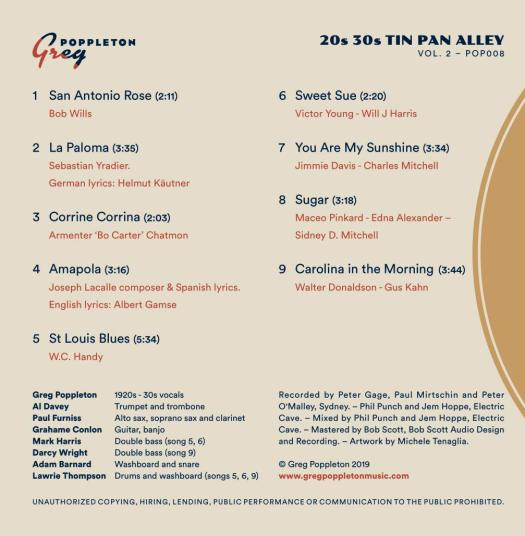 Tin Pan alley Vol 2 back cover