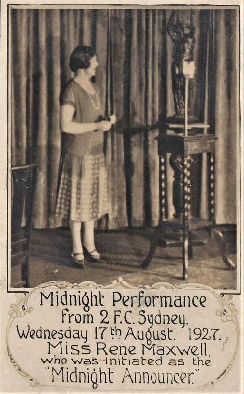 2FC radio broadcast 1927
