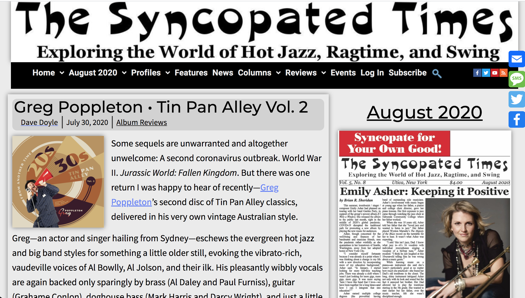 Greg Poppleton review - The syncopated Times