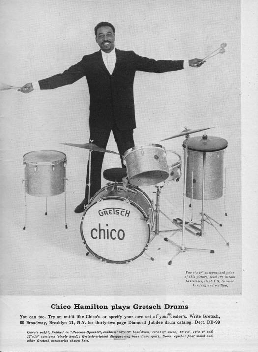 Chico Hamilton gretsch drums
