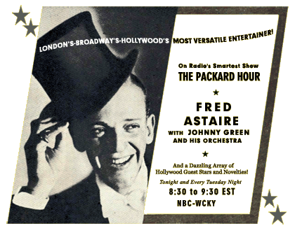 fred astaire packard hour and 1936 us election results
